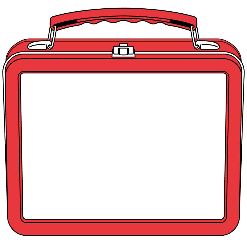 Lunch Box Clipart Black And White Free Clipart