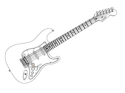 Madfishman Com 2d Graphics Guitar Outline
