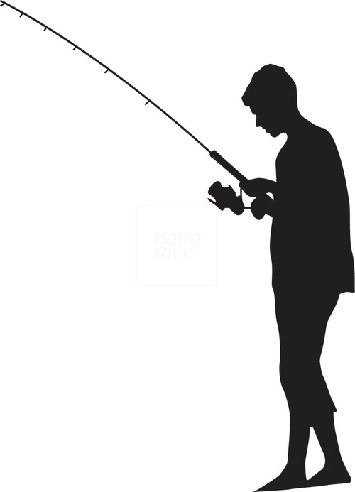 Man Fishing Silhouette Free Clipart Images