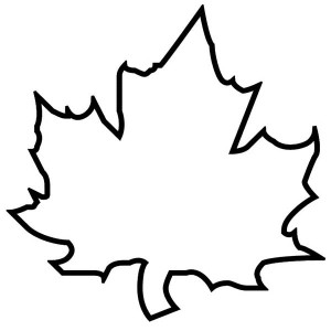 Maple Autumn Leaf Outline Coloring Page Maple Autumn Leaf Outline