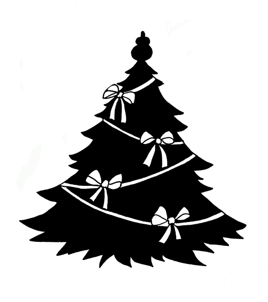 Marijuana Black And White Tree Clipart