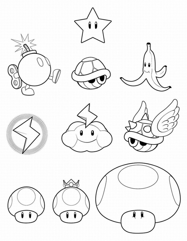 Mario Party Coloring Pages Az Coloring Pages