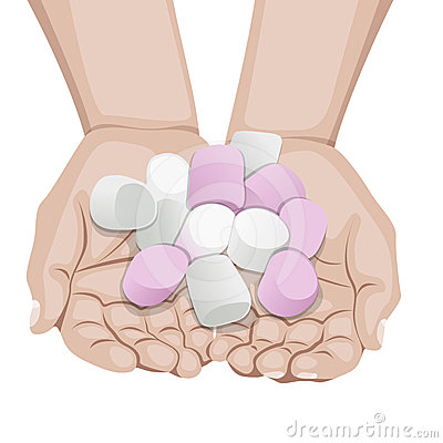 Marshmallow Candy Stock Vector Image
