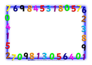 Math Page Border Maths Themed A4 Borders Clipart Free Clip Art