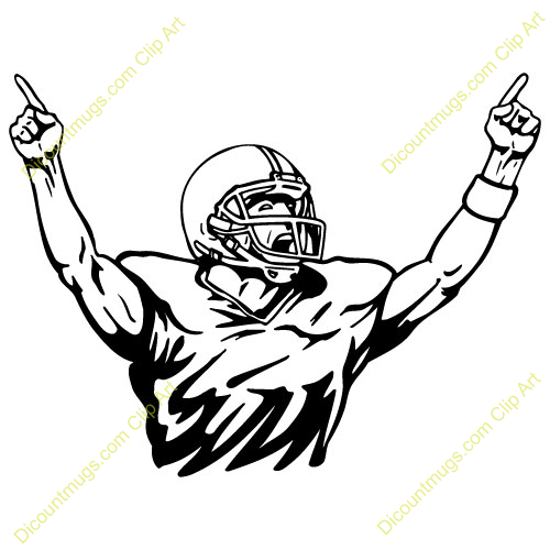 Mean Football Player Clipart Free Clipart Images