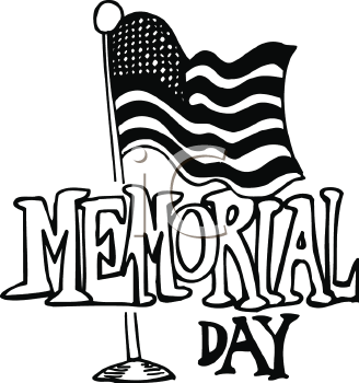 Memorial Day Clip Art Black And White Images Pics Cards