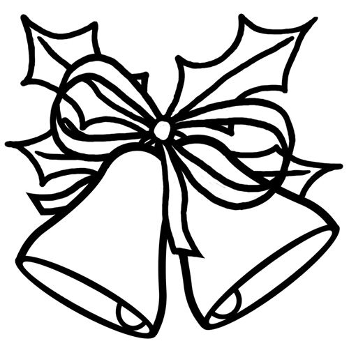 Merry Christmas Clipart Black And White Free