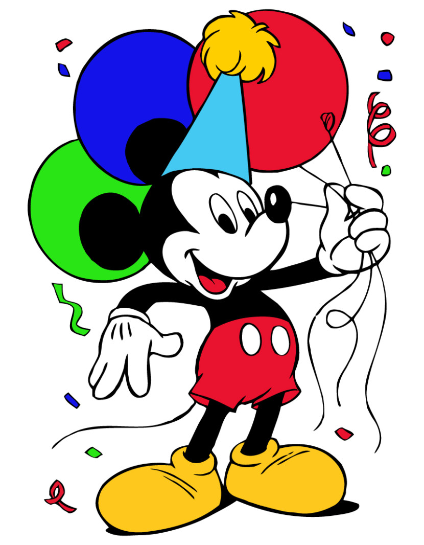Mickey Mouse Birthday Clipart Free Clipart Images