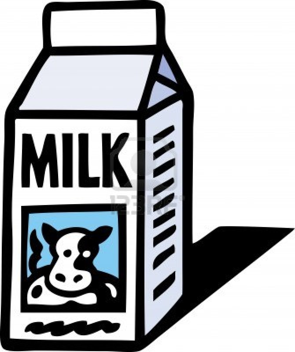 Milk Carton Clipart Black And White Free Clipart