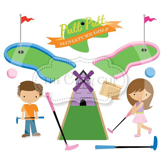 Mini Golf Madness Clipart Setthecraftyclip On Etsy
