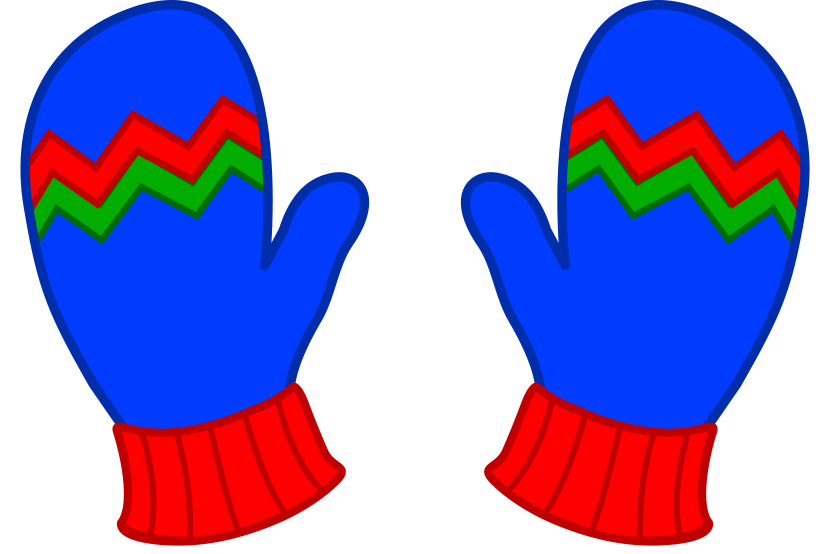Mitten Clip Art Black And White Free Clipart Images