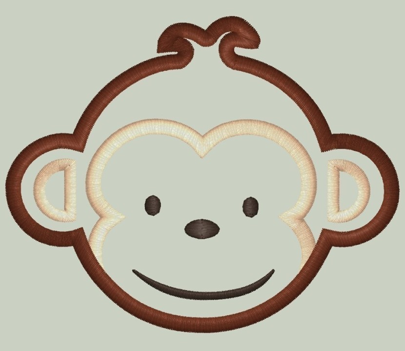 Mod Monkey Look Alike Boy Monkey Face Appliqueposhlittlethings