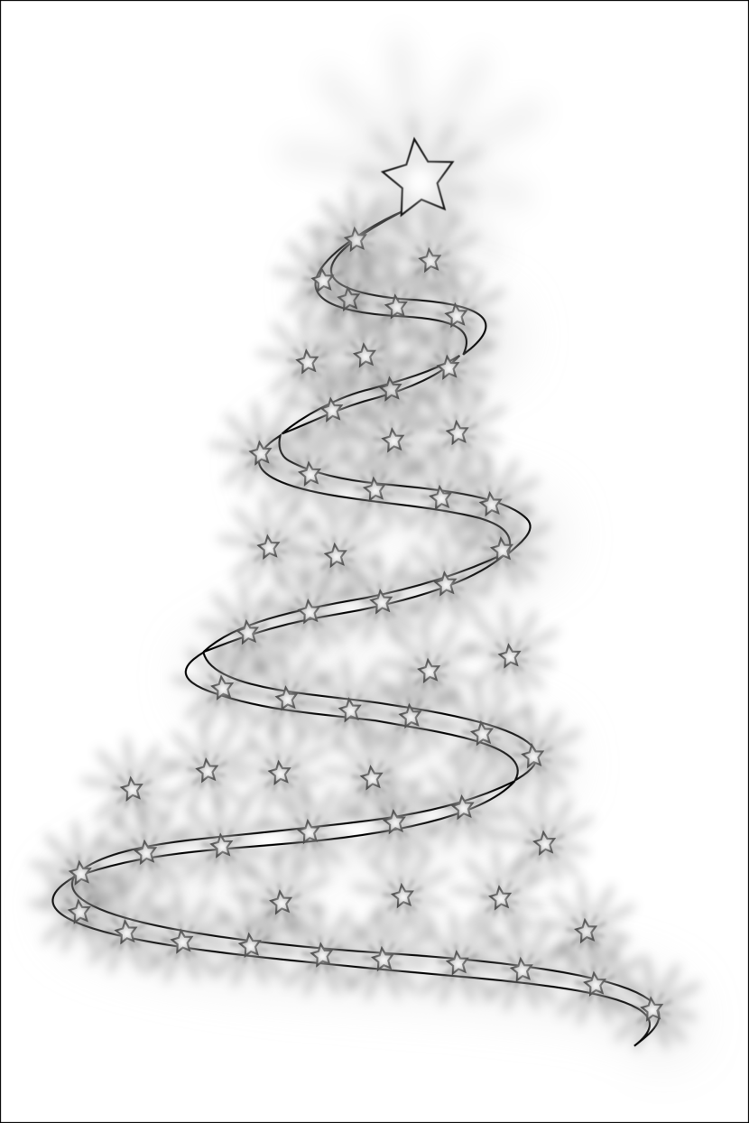Modern Christmas Tree 4merlin 5 Xmas Coloring Book