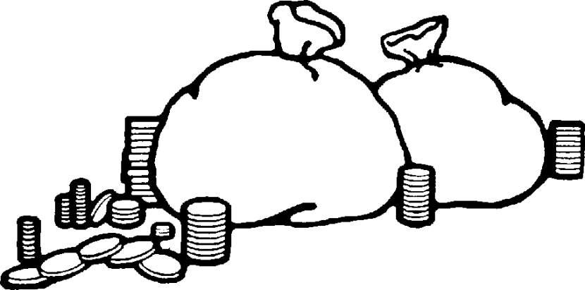 Line Art Money : Money clipart black and white clipartion