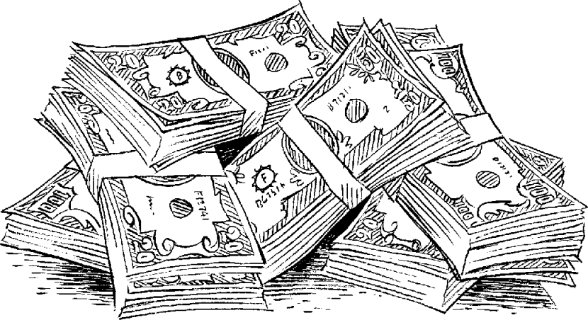 Clipart Practica Technical money-clip-art-black-and-white-