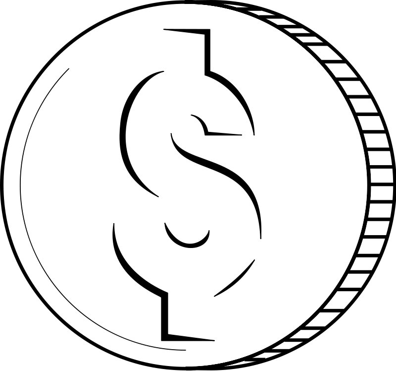 Money Clip Art Black And White Free Clipart Images