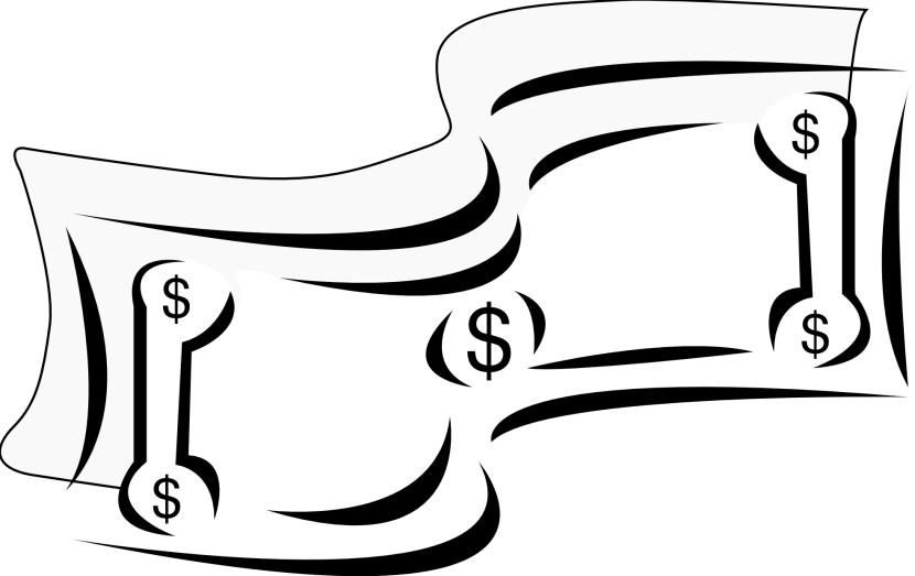 Money Clipart Black And White Clipartion Com