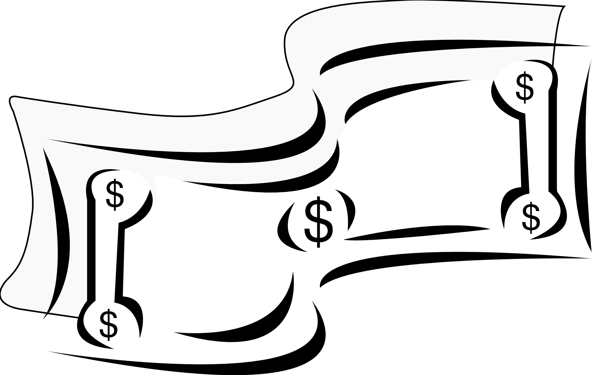 Money Sign Clip Art Black And White Free Clipart