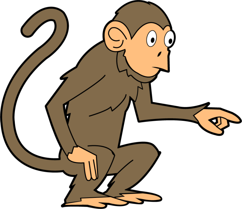 Monkey Clip Art Animals Cleanclipart
