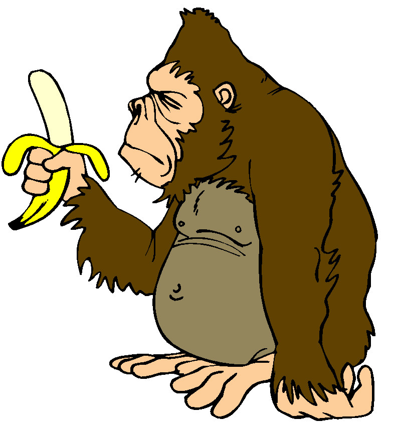 clipart monkey hanging from tree - photo #31