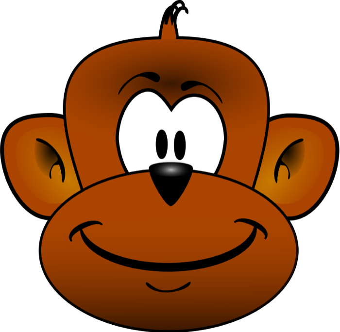 Monkey Face Clip Art Black And White Free