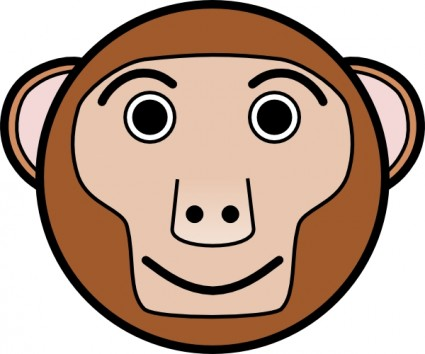 Monkey Rounded Face Clip Art Free Vector In Open Office Drawing