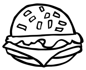 Most Popular Hamburger Clipart Black And White For Your Website