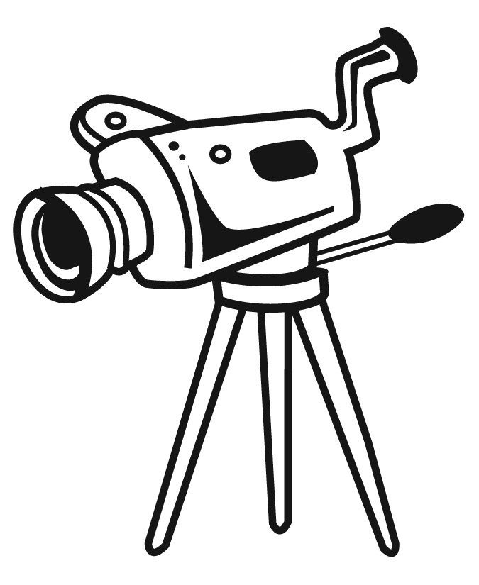 Movie Camera Clip Art