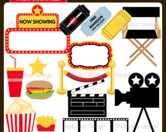 Free Clipart Movie Night Clip Art on oscar cartoon