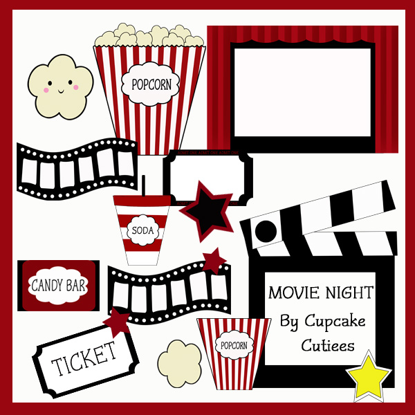 clipart of movie night - photo #23