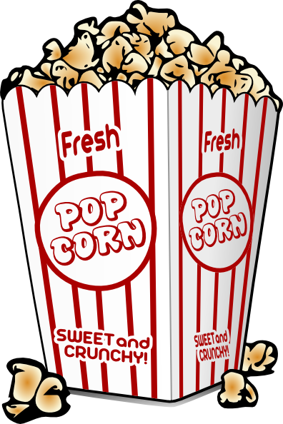 Movie Popcorn Clip Art Png Free Clipart Images