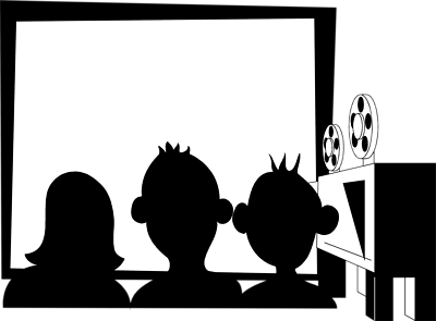 Movie Theater Black And White Clipart Free Clip Art Images