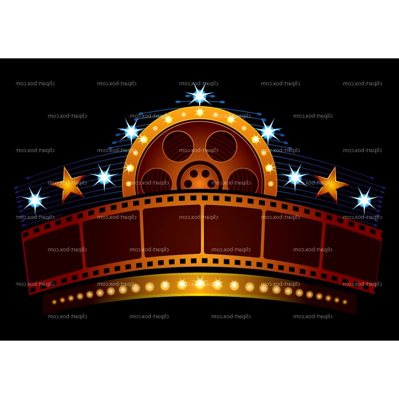 Movie Theater Building Clipart Furniture Kit Picture
