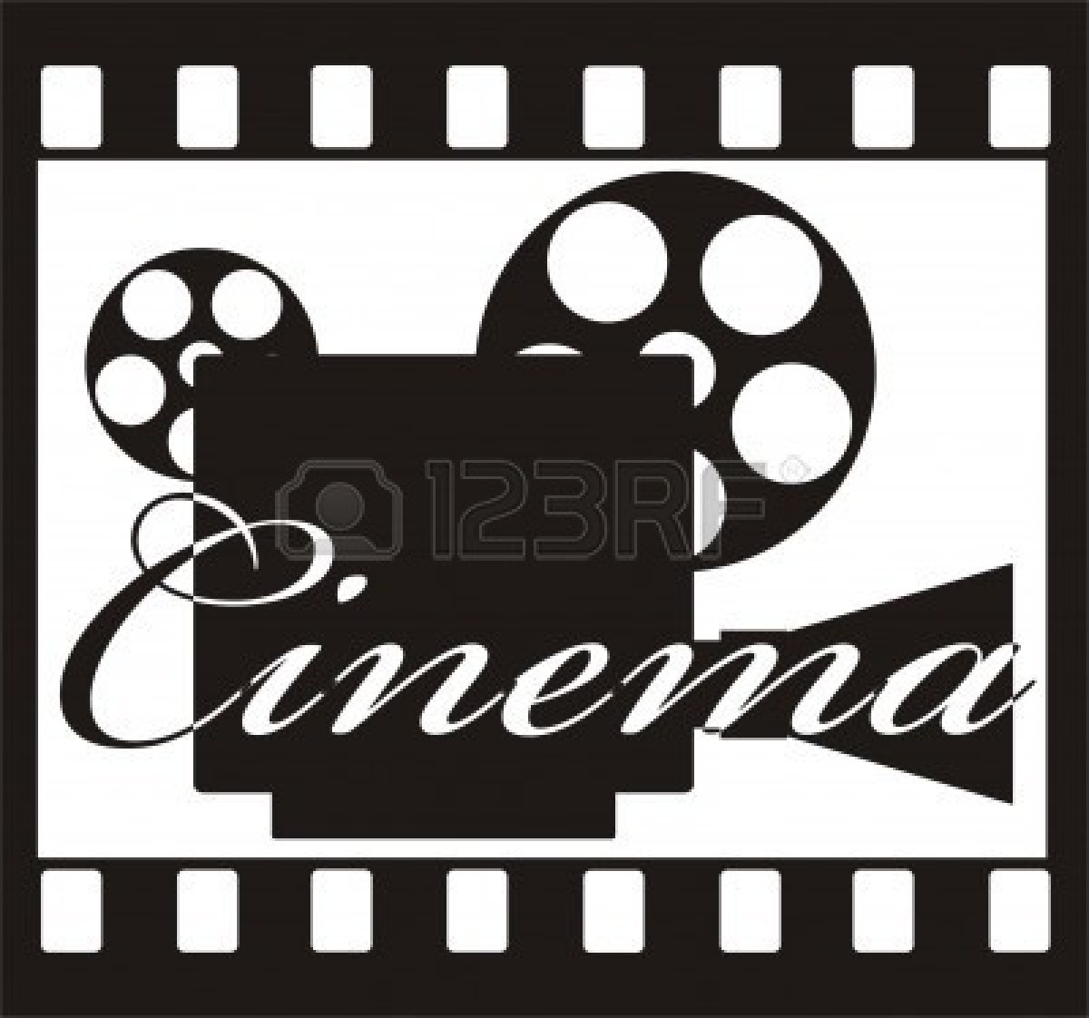 Movie Theater Clipart Black And White Free