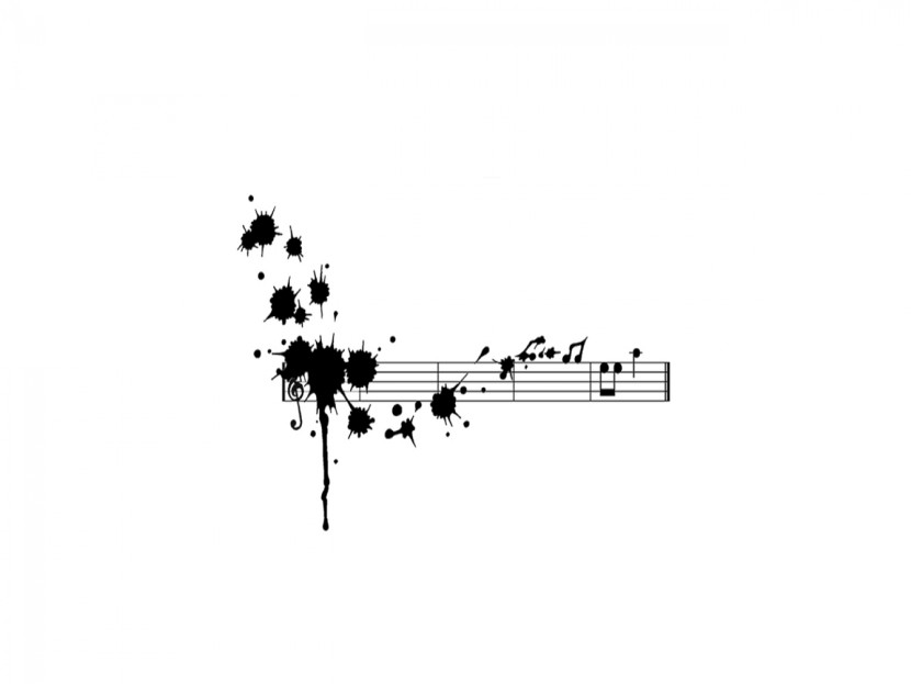 Cute Music Note Wallpaper: Black And White Music Notes