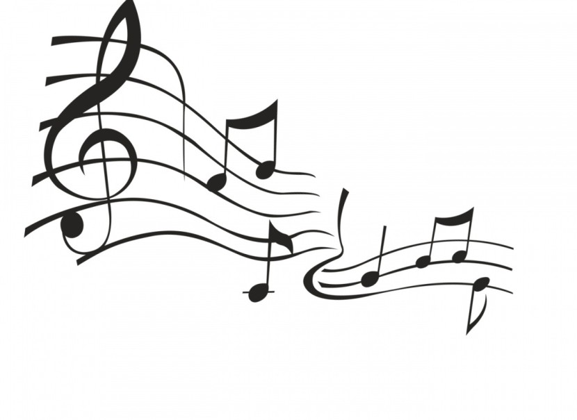 Musical Notes Background Black And White Free