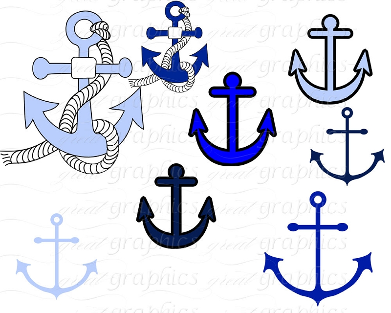 Nautical Clip Art Digital Clip Art Anchor Nautical Flag Clipart