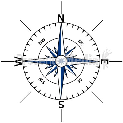 Nautical Compass Outline Signs And Symbols Great Clipart For