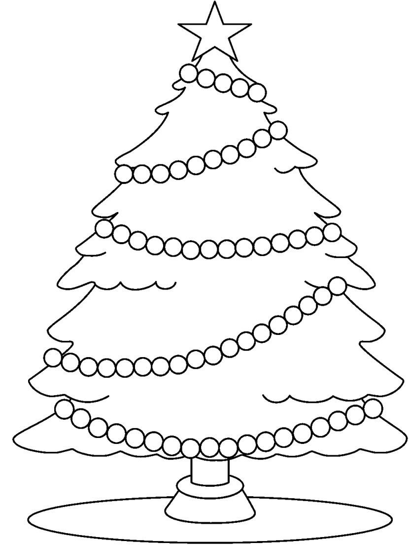Christmas Tree Clipart Black And White - Clipartion.com