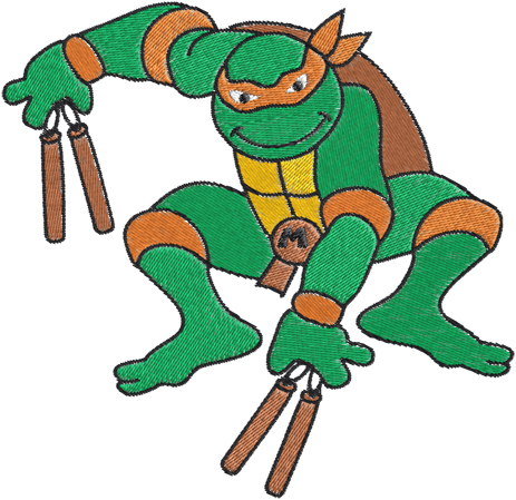 Ninja Turtles Machine Embroidery Design 0 Clipart