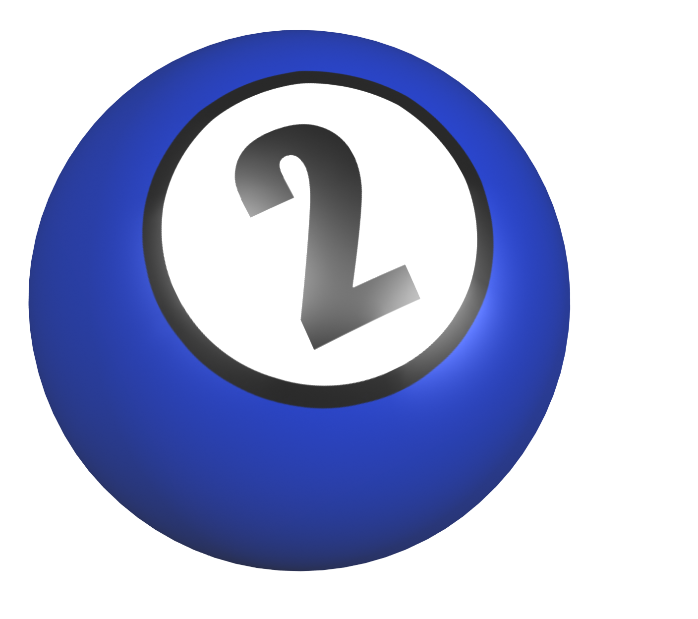 Number 2 Ball With Image From Clipart Free Clip Art Images