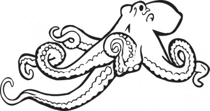 Octopus Clip Art Orange Boredom Concentration Image