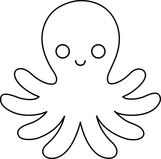 Octopus Clipart Black And White Free Clipart Images
