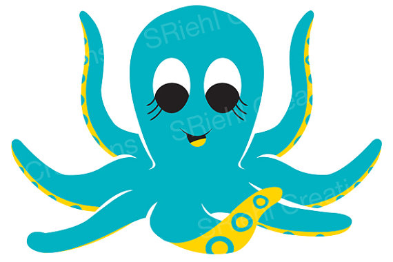 Octopus Clipart Download Nautical Nurserysriehlcreations