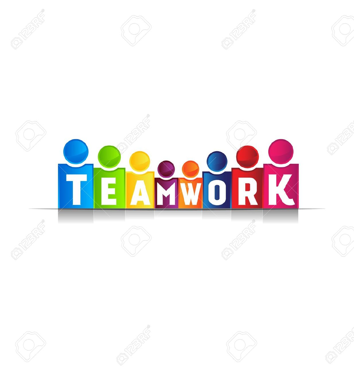 Office Teamwork Stock Vector Illustration