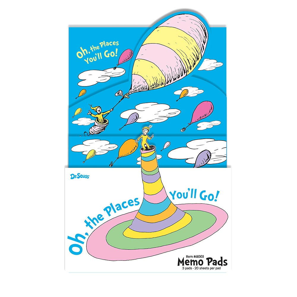 Oh The Places You Ll Go 3 Ct Memo Set Pad Bg Sku Clipart Free