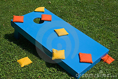Old Cornhole Set Stock Vector Image