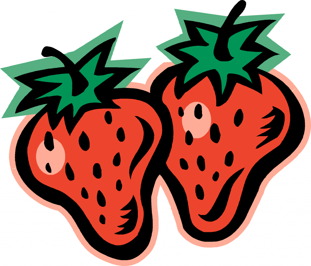 One Strawberry Clipart