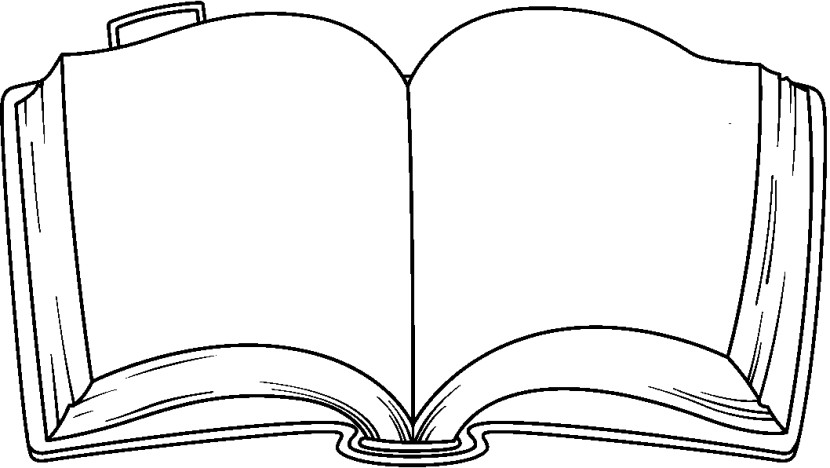 Open Book Clip Art Black And White Free Clipart