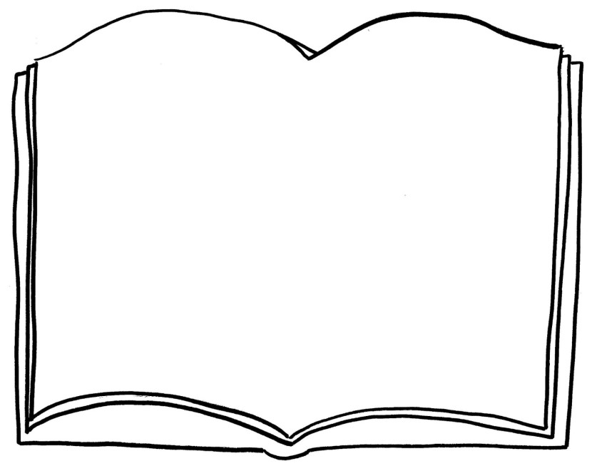 Open books coloring pages ~ Open Book Clipart - Clipartion.com